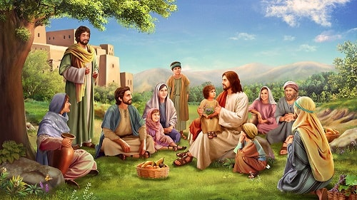 Lord Jesus with people