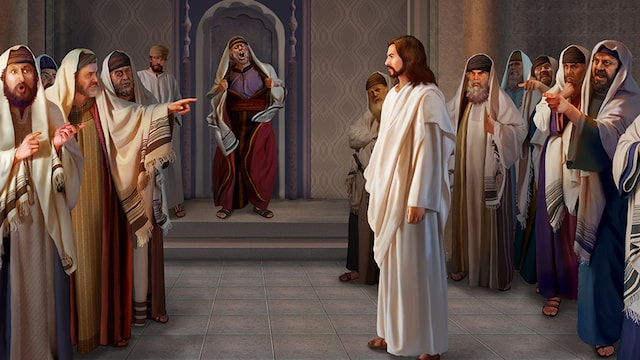 The Pharisees accuse the Lord
