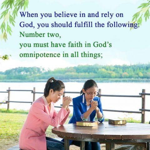 God's omnipotence, believe in God