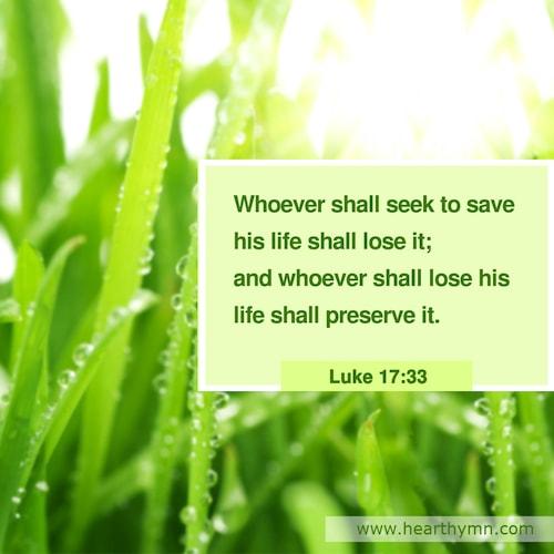 Luke 17:33 – Bible Verse
