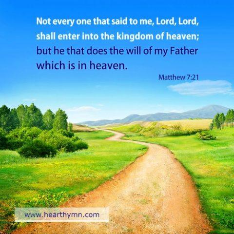Matthew 7:21 – True and False Disciples