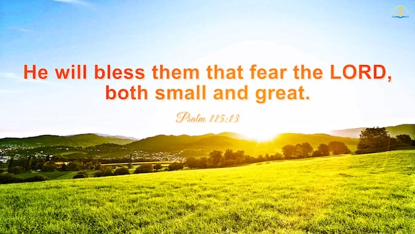 Bible verses about blessings from god - Psalm 115:13