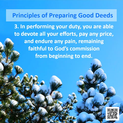 Principles of Preparing Good Deeds – Number Three