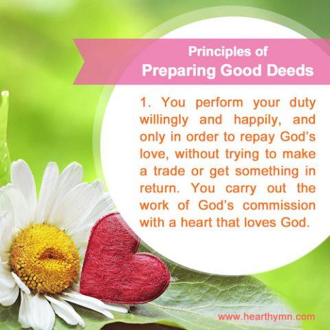 Principles of Preparing Good Deeds – Number One