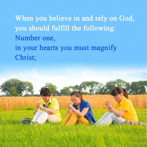 magnify Christ, believe in God