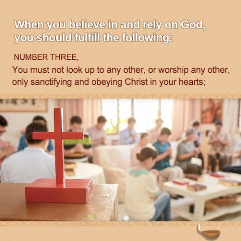 4 principles about believing in and relying on God – Number Three