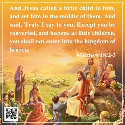 Become As Little Children: Matthew 18:2-3 – Bible Verse