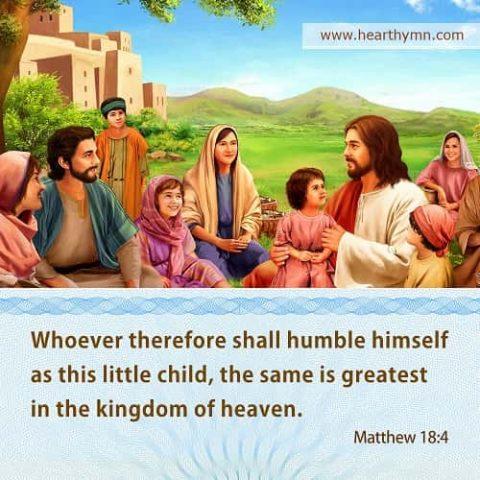 Humble as a Little Child: Matthew 18:4 – Bible Verse