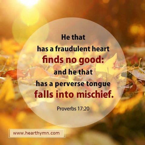 Proverbs 17:20 AKJV – Bible Verse