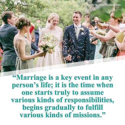 Marriage Is the Beginning of Fulfilling One's Mission