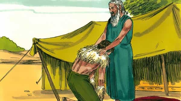 Isaac Blesses Jacob - bible story