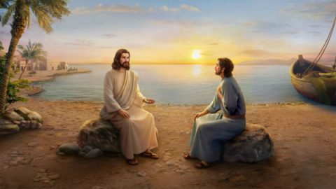 "Jesus Christ asks ""Peter, do yo love me"""