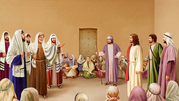 the Pharisees ask Jesus
