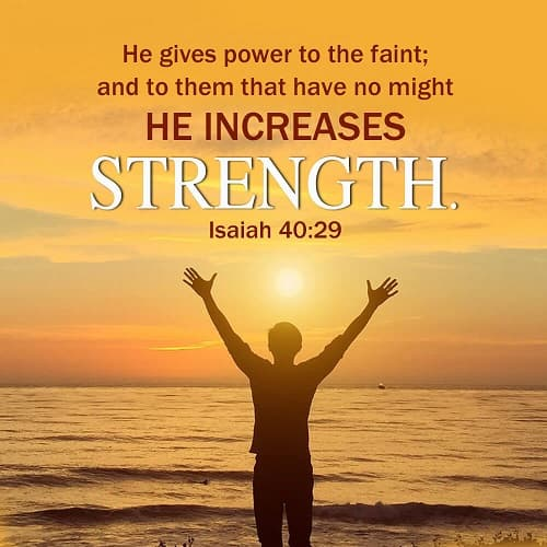 Bible Verse Of The Day Isaiah 40 29 God S Power