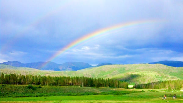 rainbow in landscape