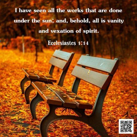 Ecclesiastes 1:14 – Vanity in the Bible