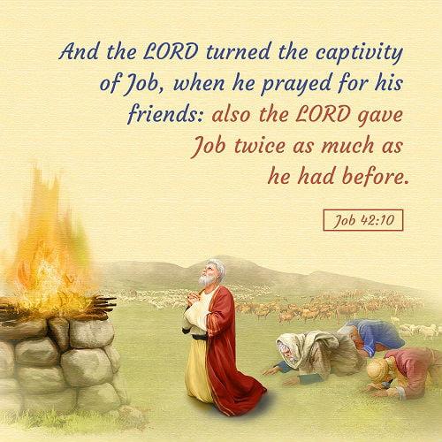 Job Prayed for His Friends - Job 42:7-10 - Today's Bible Verse