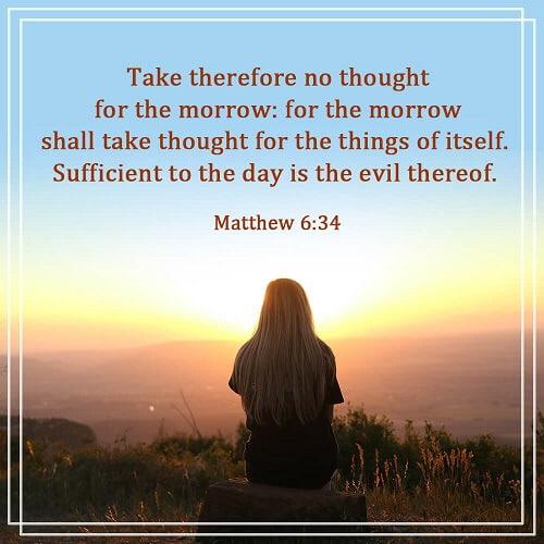 Matthew 6:34