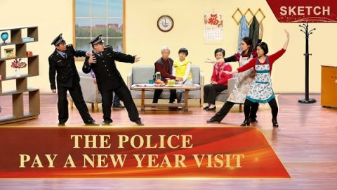 Christian Short Sketch Review of The Police Pay a New Year Visit