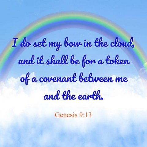 Genesis 9:13 - Rainbow Covenant - bible verse image