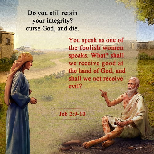 Job 2:9-10 - What Happened to Job in the Bible