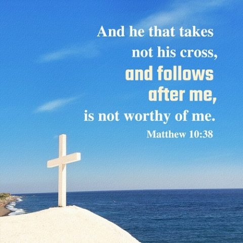 Matthew 10:38 - The Way of the Cross - bible verse of the day