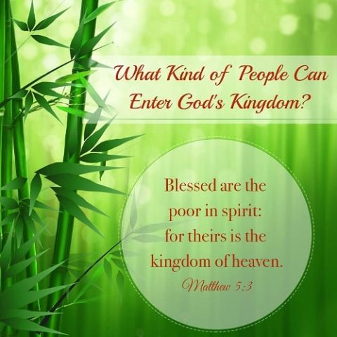 Blessed Are the Poor in Spirit – Matthew 5:3