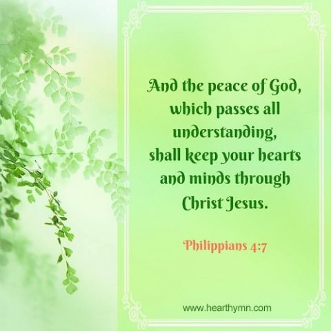 Peace of God – Philippians 4:7