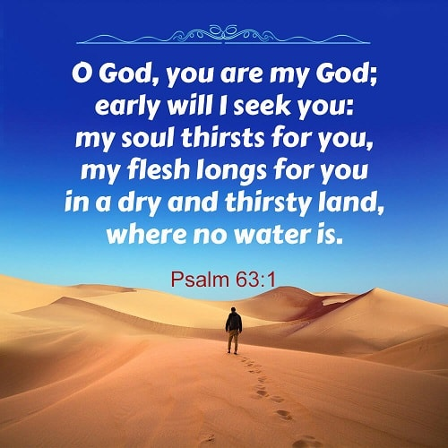 Psalm 63:1 - My Soul Thirsts for You