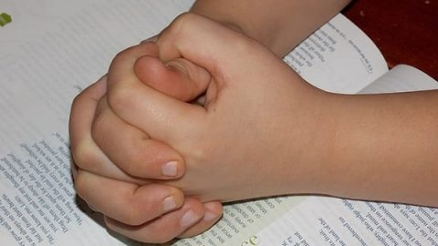 child praying hands
