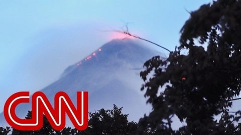 See Residents Flee Erupting Fuego Volcano in Guatemala