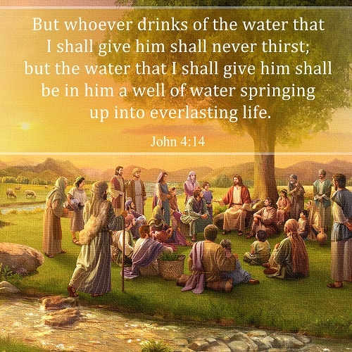 John 4:14 - The Water of Life - bible verse about eternal life