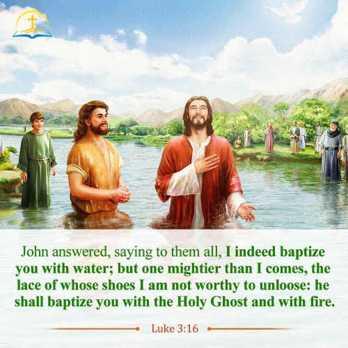 Luke 3:16 - John the Baptist and Jesus Christ - Daily Bible Verse