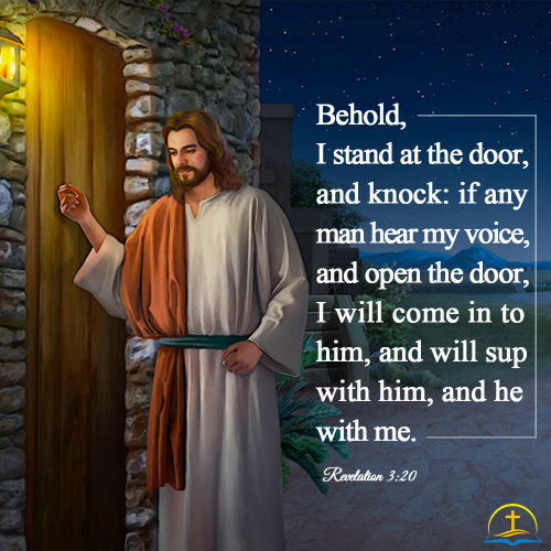 Revelation 3:20 - Behold I Stand at the Door and Knock, Bible Verse of the Day