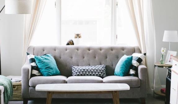 home and sofa