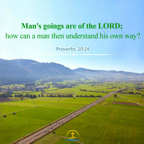 Proverbs 20:24 - Man's Goings are of the LORD, Bible Verse of the Day