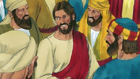 Jesus Christ talking to disciples
