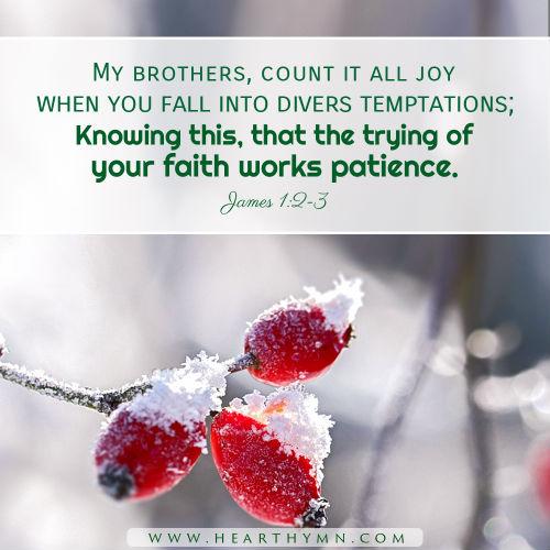 James 1:2-3 - Joy in Trials, Daily Bible Verse