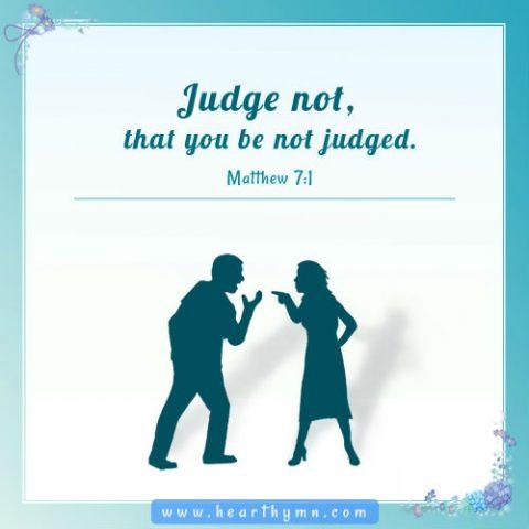 Matthew 7:1 - Judge not, Daily Bible Verse