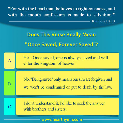 "Does the Verse in Romans 10:10 Really Mean ""Once Saved, Forever Saved""?"