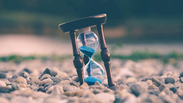 Time is slipping like sand