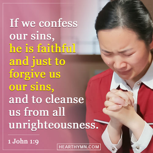 1 John 1:9 - Confess And God Will Forgive, Daily Bible Verse