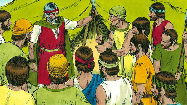Moses sent the heads of the twelve tribes of Israel to spy out the land of Canaan