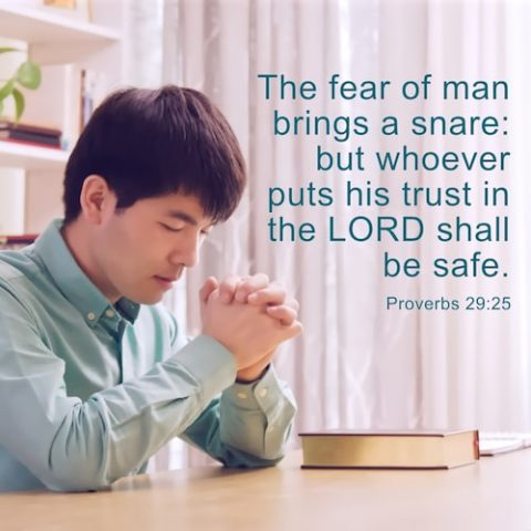 Bible Verse of the Day - Proverbs 29:25 - Put Trust in the Lord