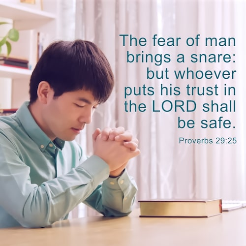 Put Trust in the Lord - Proverbs 29:25