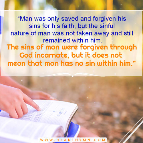 The Incarnate God Forgives Man's Sin - Truth Quote Image