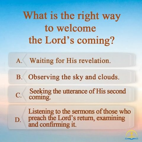 What is the Right Way to Welcome the Lord's Coming?