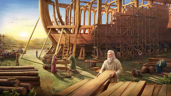 noah building an ark