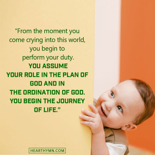 The Journey of Life Is Ordained by God - Truth Quote About Fate