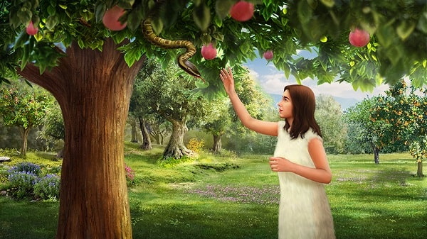 Eve and the tree of knowledge of good and evil